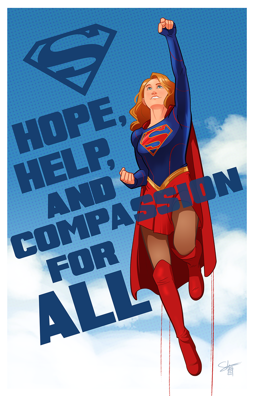 Supergirl; Hope, Help & Compassion fopr all.png